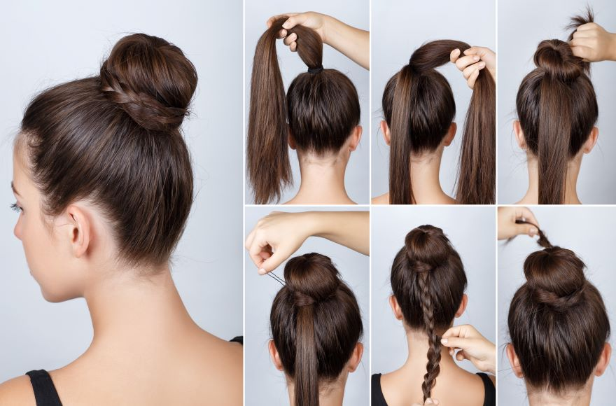 Ev Topuz Saç Modelleri